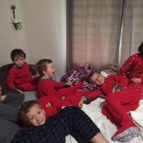 Christmas morning snuggles