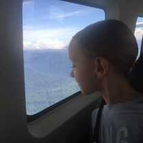 Looking at the beautiful scenery as we fly