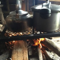 Boiling water and cooking